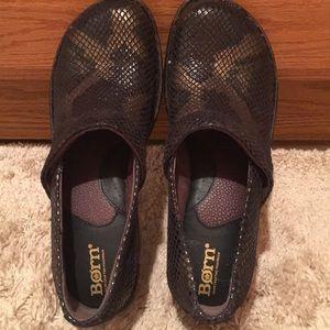 NWT Born shoe mule Toby flats snake leopard 6